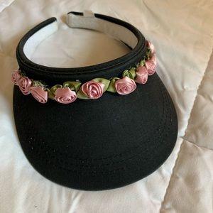 Vintage 90s rosette visor